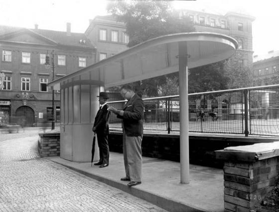 1936-ban így nézett ki a Károly tér megállója (fotók: IPR)